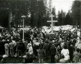 Освящение места под строительство церкви. Установление Креста. 1 мая 1993 г. Фото из домашнего архива В.Н. Краева (1)