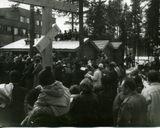 Освящение места под строительство церкви. Установление Креста. 1 мая 1993 г. Фото из домашнего архива В.Н. Краева (2)